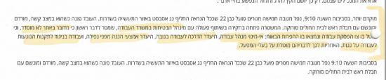 פרסום בתקשורת אודות חשד לגרימת חבלה ברשלנות.